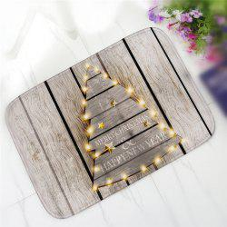Creative Christmas Tree Pattern Antiskid Floor Mat - Brown