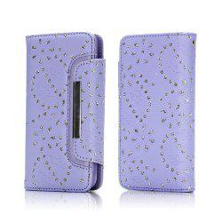 2 in 1 Magnetic Detachable Glitter Pigment Phone Case with Credit Card Holder Built-in Card Slots for Samsung Galaxy S8 Plus -