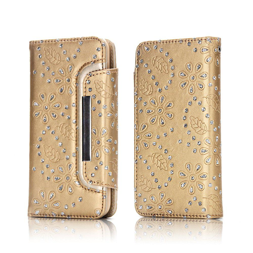 Shops 2 in 1 Magnetic Detachable Glitter Pigment Phone Case with Credit Card Holder Built-in Card Slots for Samsung Galaxy S8 Plus