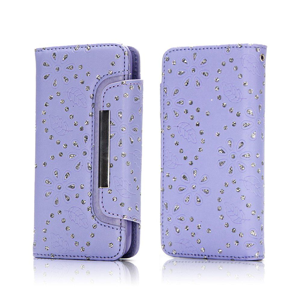 Sale 2 in 1 Magnetic Detachable Glitter Pigment Phone Case with Credit Card Holder Built-in Card Slots for Samsung Galaxy S8 Plus