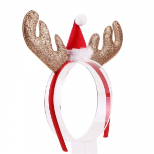 Christmas Gift Style Plum Elk Antlers Hair Band for Children -