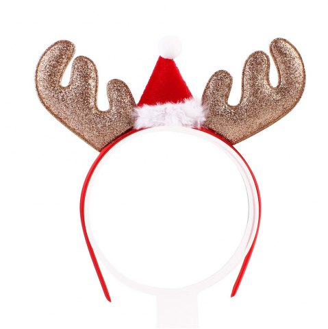 Best Christmas Gift Style Plum Elk Antlers Hair Band for Children