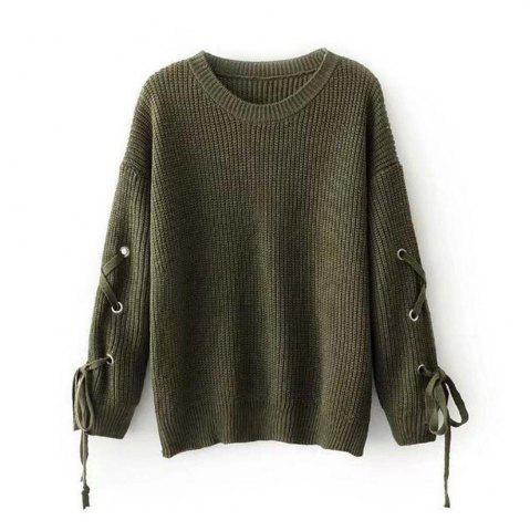 Shop Female Band Long Sleeved Turtleneck Sweater Loose Solid