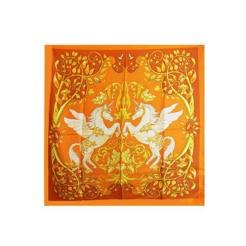 Outfits Women Fashion Twill Silk Square Scarf