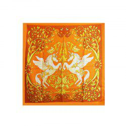 Women Fashion Twill Silk Square Scarf -