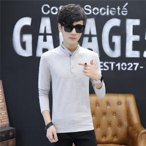 Men's Stylish Floral Stand Collar Long-Sleeved T-Shirt -