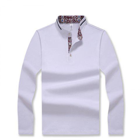 Buy Men's Stylish Floral Stand Collar Long-Sleeved T-Shirt