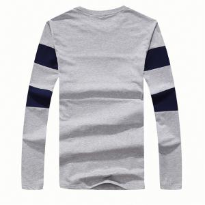 Men's Fashion Hit Color Slim Long-Sleeved T-Shirt -