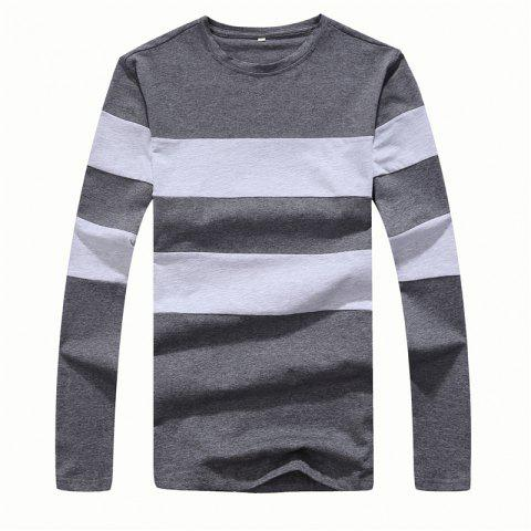 Hot Men's Fashion Hit Color Slim Long-Sleeved T-Shirt