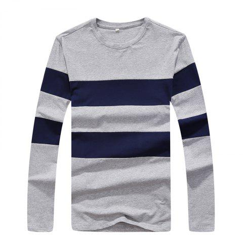 Chic Men's Fashion Hit Color Slim Long-Sleeved T-Shirt