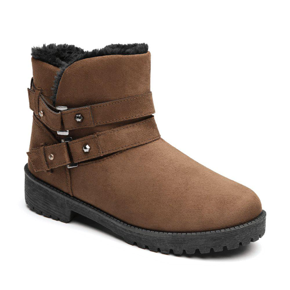 Sale Women Faux Fur Warm Ankle Snow Boots