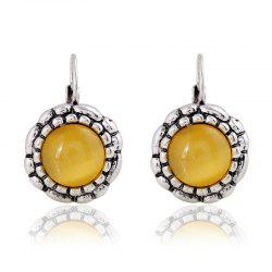 Vintage Crystal Opal Studded Earrings -