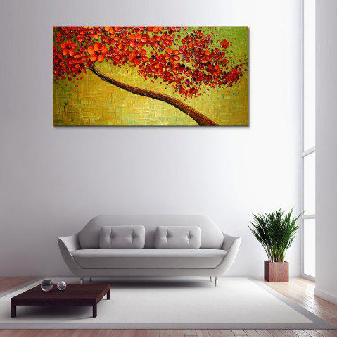 Red Flower Hand Painted Abstract Oil Painting On Canvas Modern Home Decor Wall Art Picture