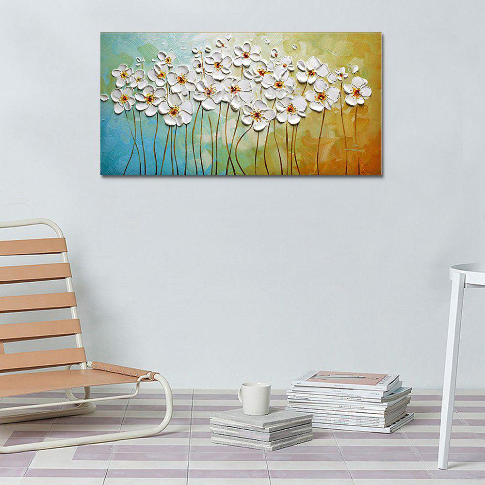 White Flower Hand Painted Abstract Oil Painting On Canvas Modern Home Decor Wall Art Picture 235802601