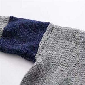 New Woman Knitting Splicing High Collared Sweater -
