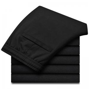 Men's Character Embroidered Black Sweatpants -