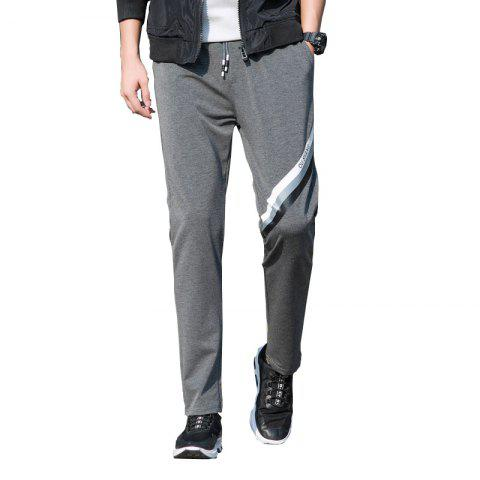Discount Men's Color Straight Tube Sports Casual Pants