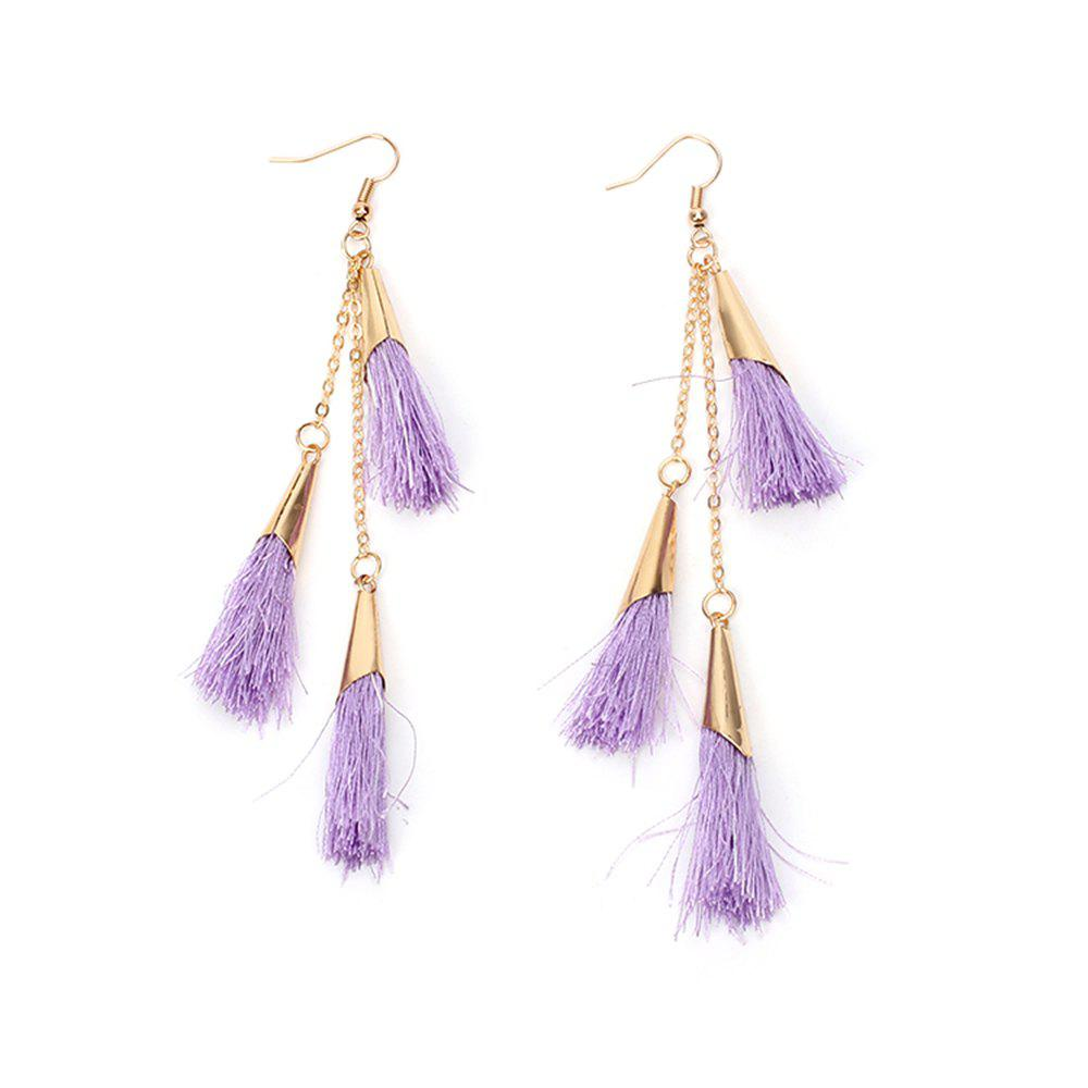 Unique 2017 New Ethnic Exaggerated Multilayer Tassel Earrings