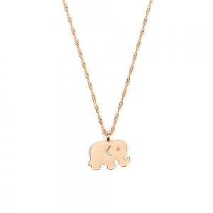 Ensemble de collier en métal multicouche Love Elephant Clavicle Chain Fashion Wild Jewelry -