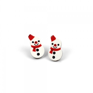Christmas Earrings Snowflake Santa Female Combo Set Cute Cartoon Earrings -