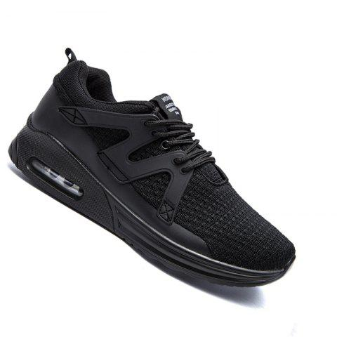 Hommes Casual Fashion Mesh Toile respirante Lace Up Chaussures plates solides athlétiques
