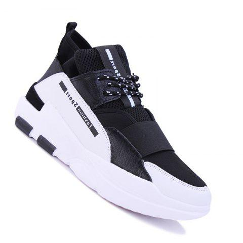 Hommes Casual Fashion Mesh respirant Lace Up Chaussures athlétiques solides
