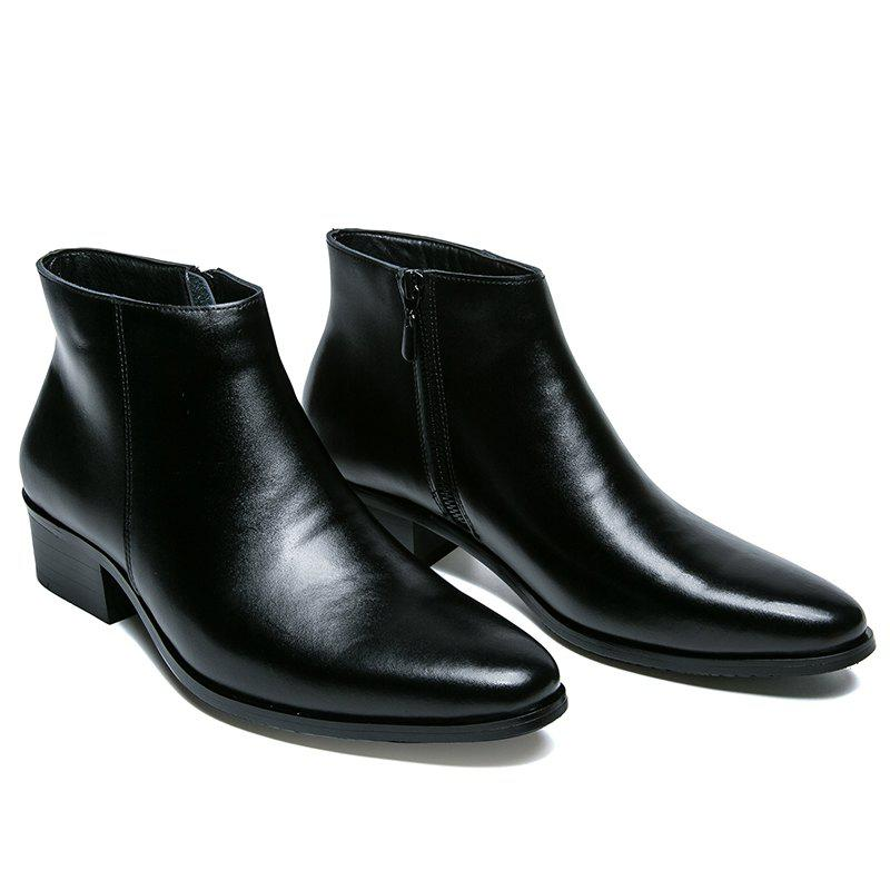 Business Warm Leather Gentle Outdoor Shoes Official  Casual BritishSHOES &amp; BAGS<br><br>Size: 42; Color: BLACK;