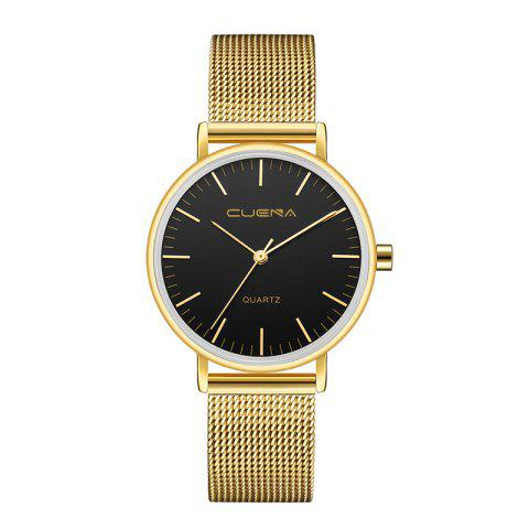 Chic CUENA 6645G Women Casual Quartz Watch Stainless Steel Band Wristwatch