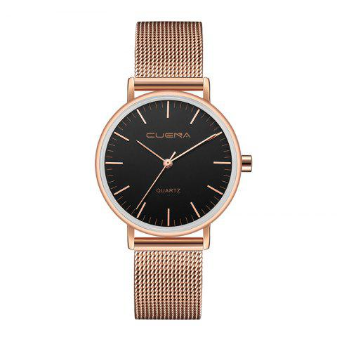 Latest CUENA 6645G Women Casual Quartz Watch Stainless Steel Band Wristwatch