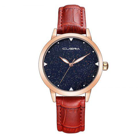 Fashion CUEAN 6643P Casual Women Quartz Watch Waterproof Wristwatch