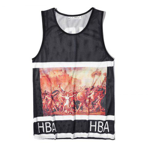 Hot Men's Fashion Printed Sports Tank Top