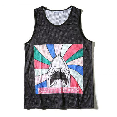 Unique Men's 3D Cartoon Printed Sports Tank Top