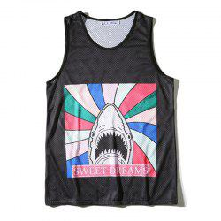 Men's 3D Cartoon Printed Sports Tank Top -
