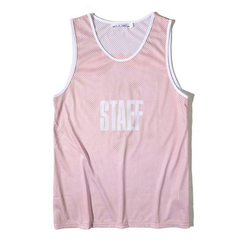 Latest Men's Simple Letter-print Sports Tank Top