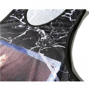 Men's Printed Marble Crack Printed Sports Tank Top -