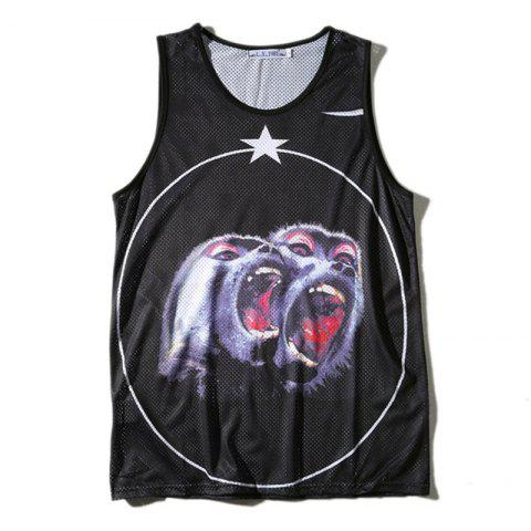 Chic Men's Digital Printing Breathable Quick-drying Tank Top