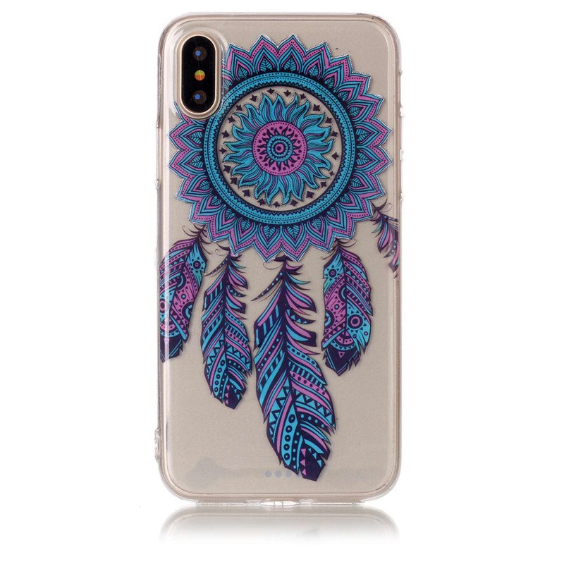 Hot Blue Chimes Pattern Soft TPU Anti-scratch Back Cover Case for iPhone X