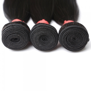 Inidan Unprocessed Virgin Straight Human Hair Weave High Quality Bundle 1piece 8 inch - 28 inch -