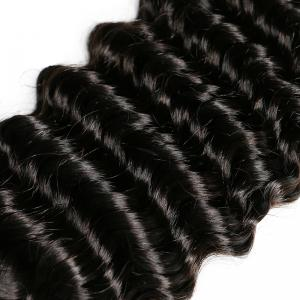 Mongolian Deep Wave Unprocessed Virgin Human Hair Weaves 10inch - 28inch 1piece /  100g -