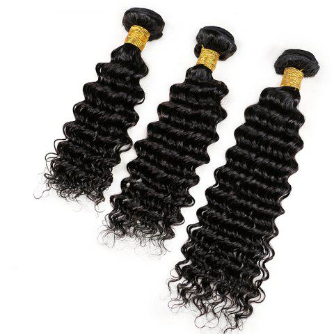 Outfit Mongolian Deep Wave Unprocessed Virgin Human Hair Weaves 10inch - 28inch 1piece /  100g