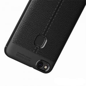 Luxury Leather Business Litchi Pattern PU Soft TPU Cover Case For Huawei P10 Lite -
