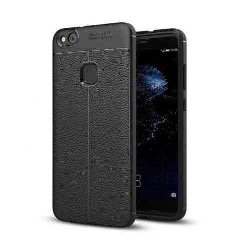 Fancy Luxury Leather Business Litchi Pattern PU Soft TPU Cover Case For Huawei P10 Lite