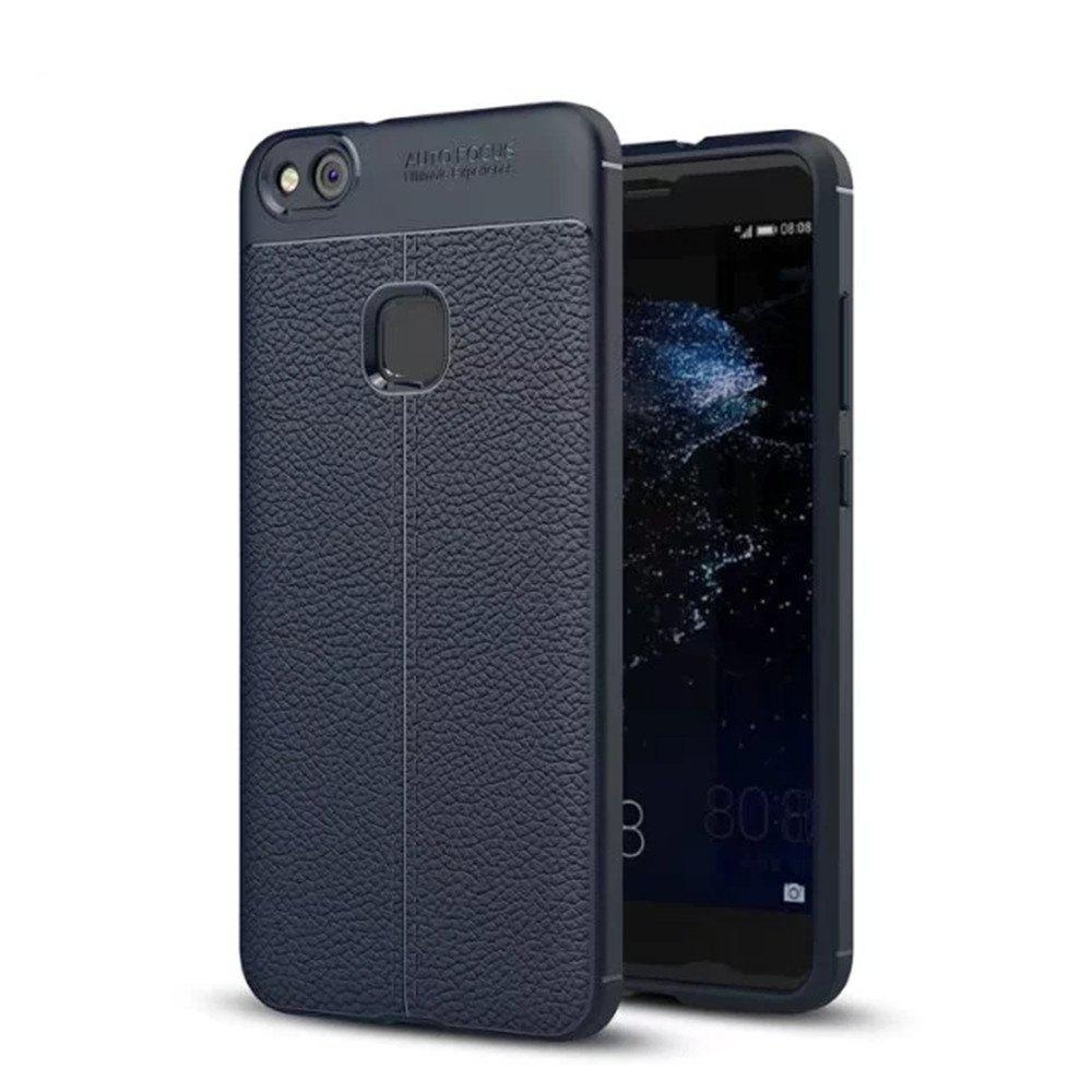 Outfits Luxury Leather Business Litchi Pattern PU Soft TPU Cover Case For Huawei P10 Lite