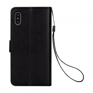 Slender Hand PU Leather Dirt Resistant Phone Case for iPhone X -