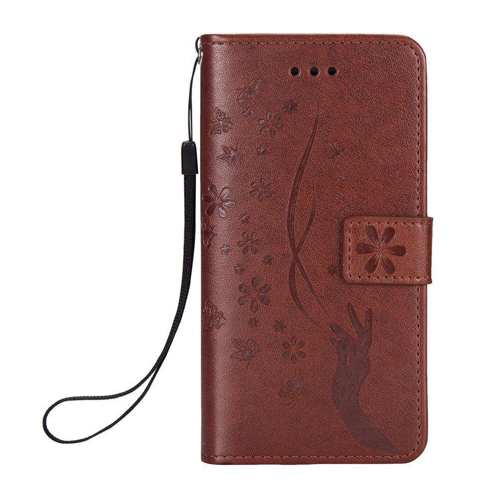 Hot Slender Hand PU Leather Dirt Resistant Phone Case for iPhone X