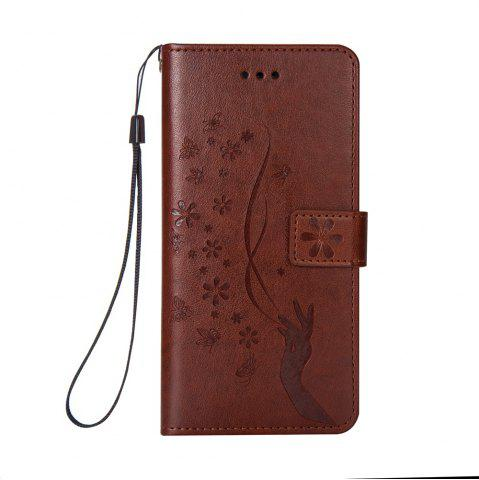 Hot Slender Hand PU Leather Dirt Resistant Phone Case for iPhone 8