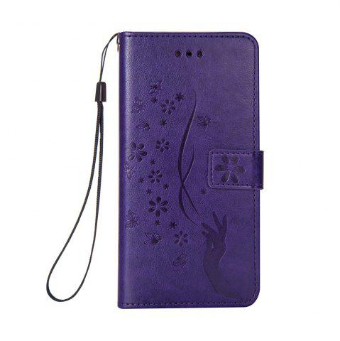 Outfit Slender Hand PU Leather Dirt Resistant Phone Case for iPhone 8