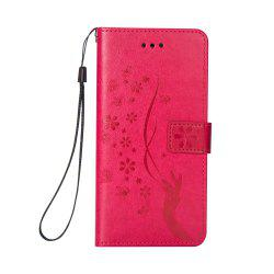 Slender Hand PU Leather Dirt Resistant Phone Case for iPhone 8 -