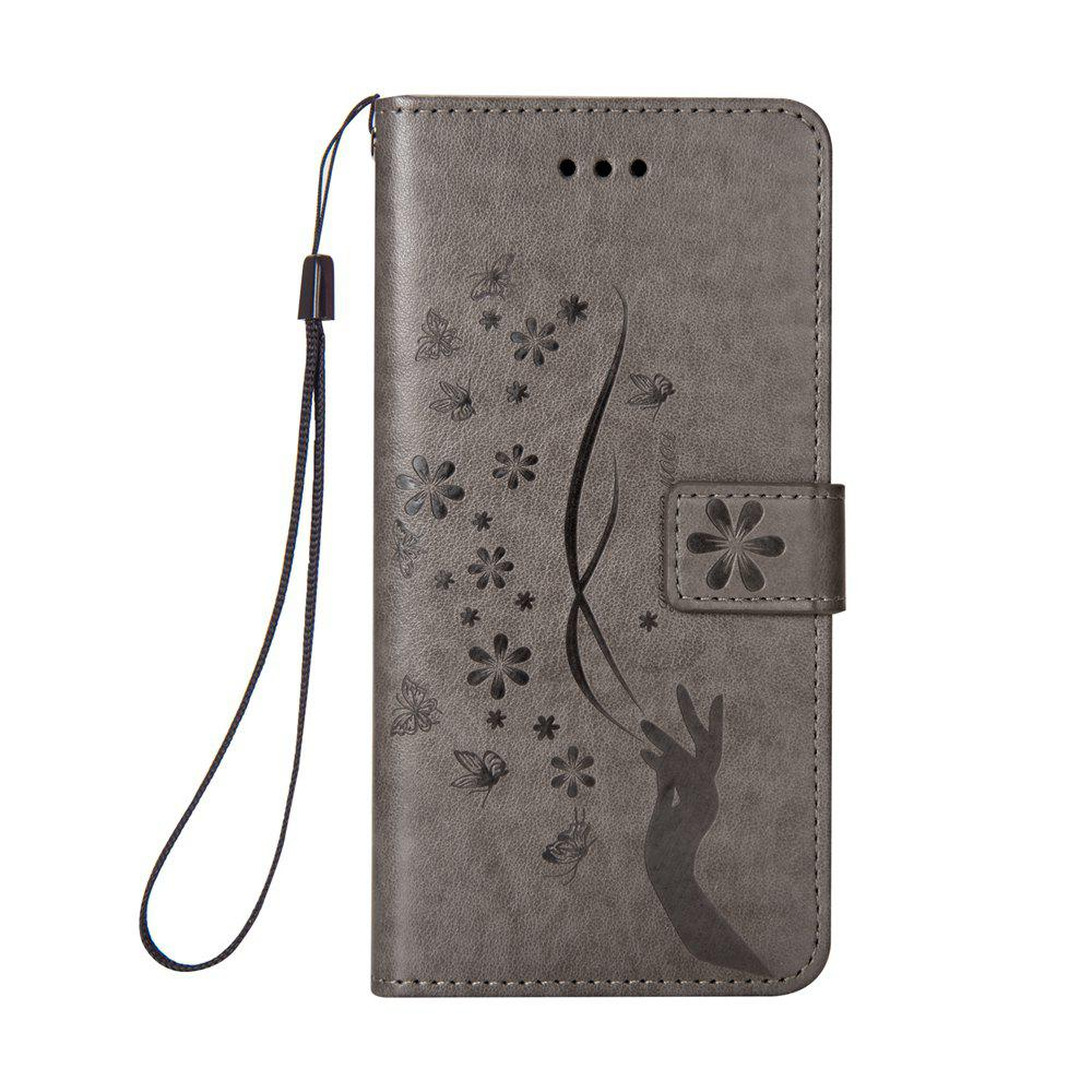 Cheap Slender Hand PU Leather Dirt Resistant Phone Case for iPhone 8