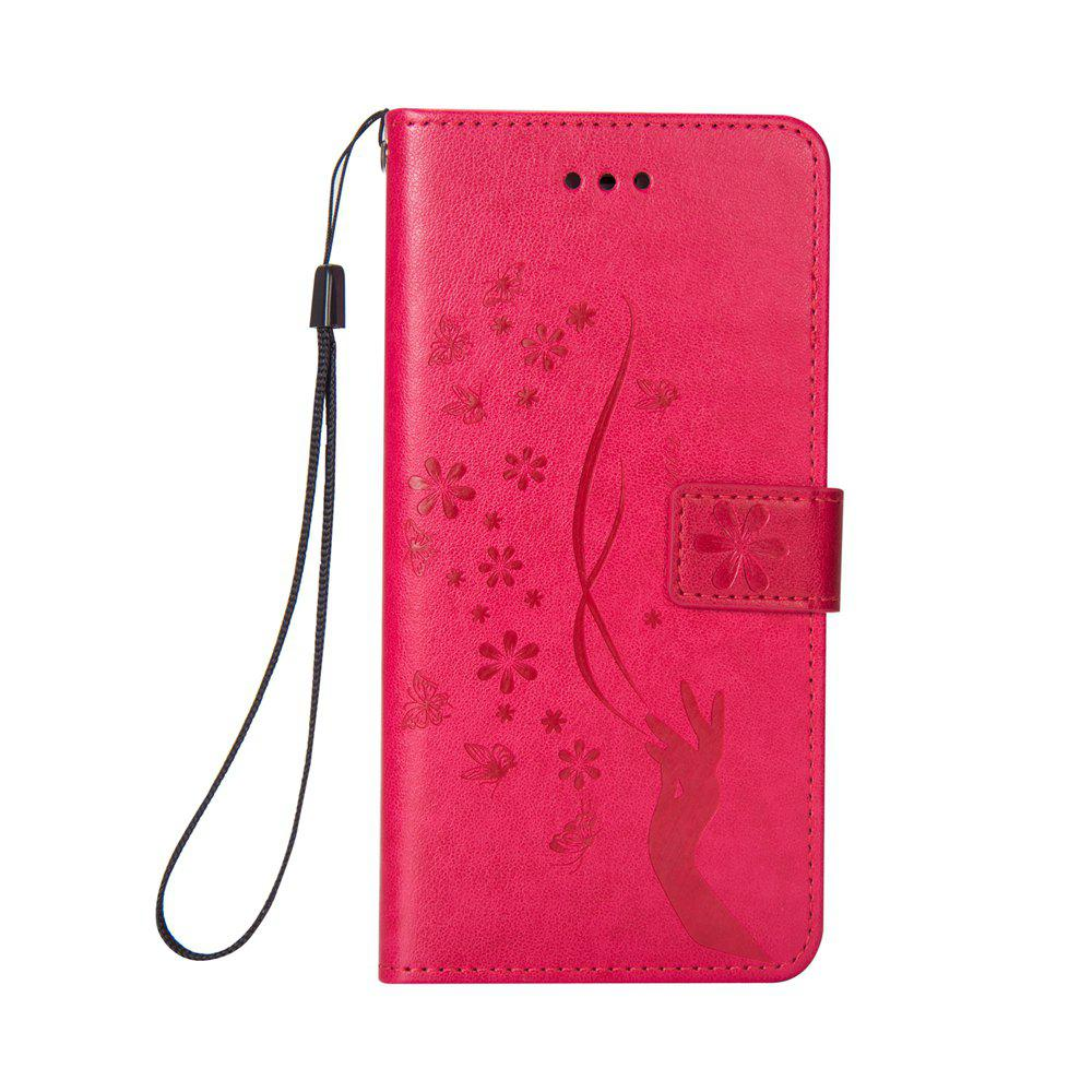 Trendy Slender Hand PU Leather Dirt Resistant Phone Case for iPhone 8